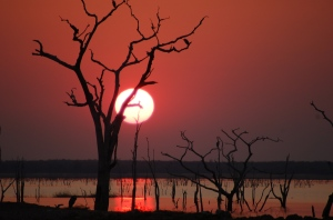 sunset on Kariba